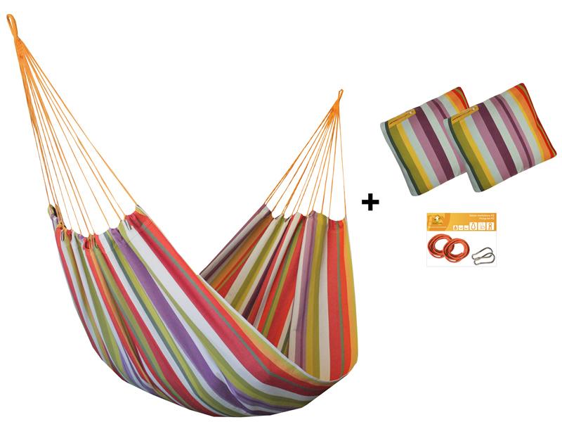 Zestaw hamakowy H w kolorze 217 z poduszkami i zestawem montażowym