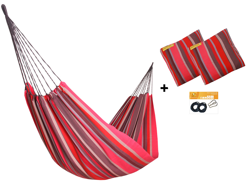 Zestaw hamakowy H w kolorze 218 z poduszkami i zestawem montażowym