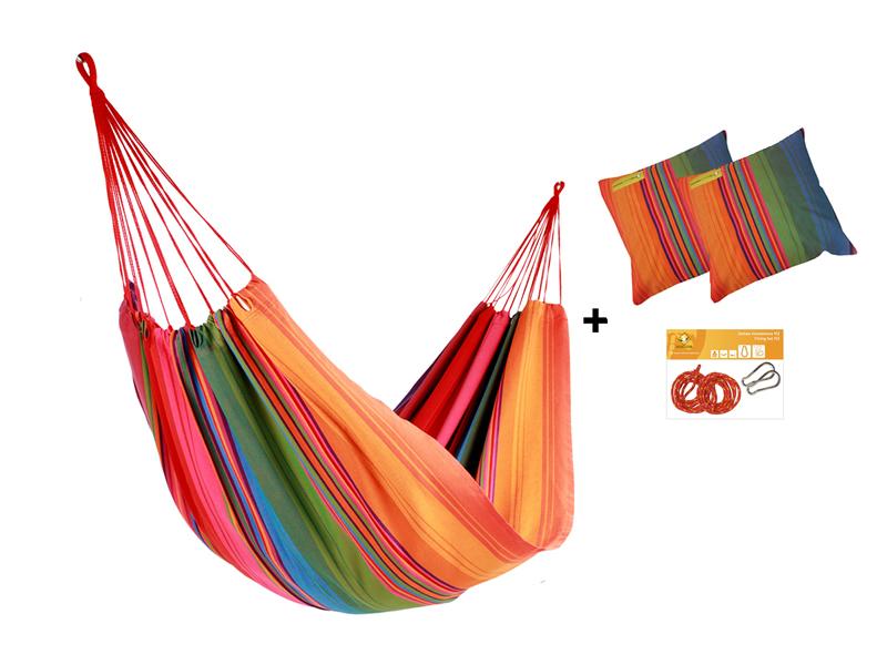 Zestaw hamakowy H w kolorze 272 z poduszkami i zestawem montażowym