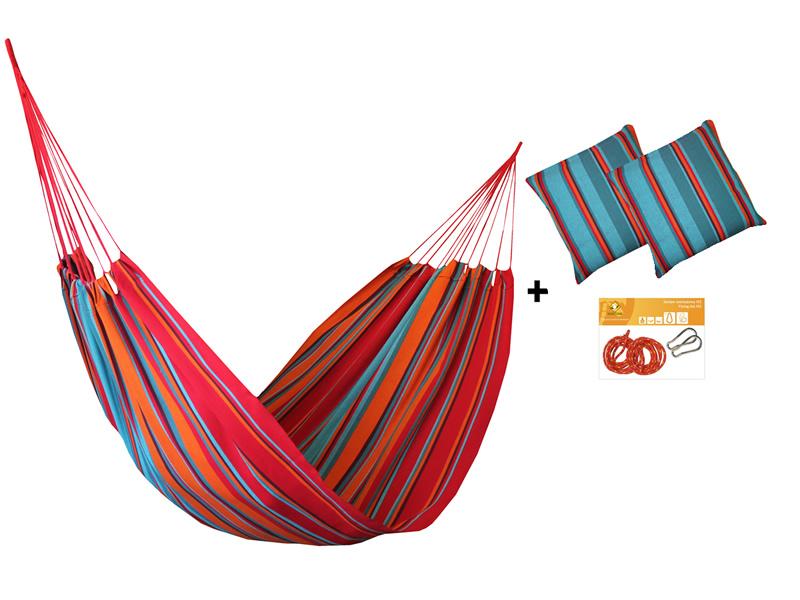 Zestaw hamakowy H w kolorze 274 z poduszkami i zestawem montażowym