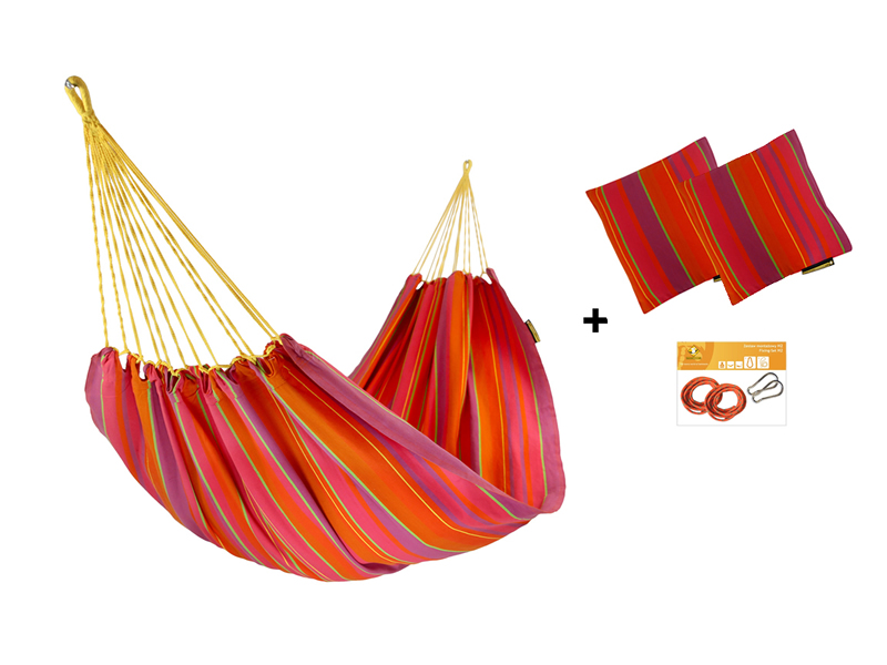 Zestaw hamakowy H w kolorze 289 z poduszkami i zestawem montażowym