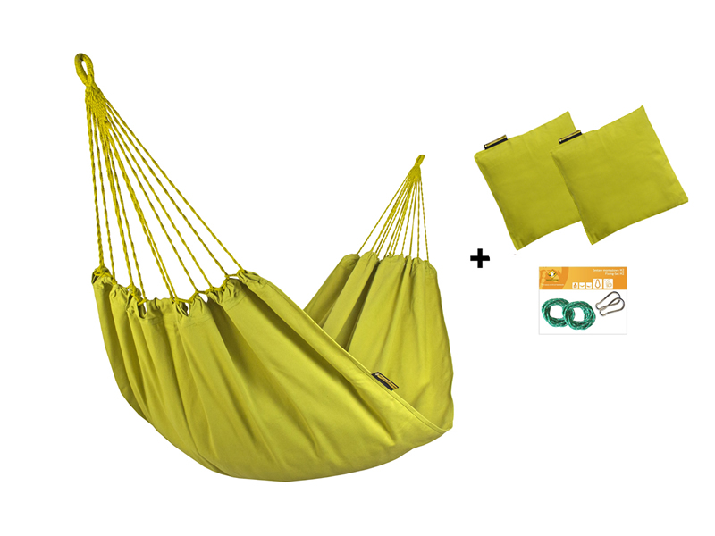 Zestaw hamakowy H w kolorze 303 z poduszkami i zestawem montażowym