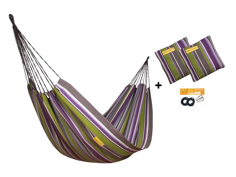 Zestaw hamakowy HW w kolorze 254 z poduszkami i zestawem montażowym