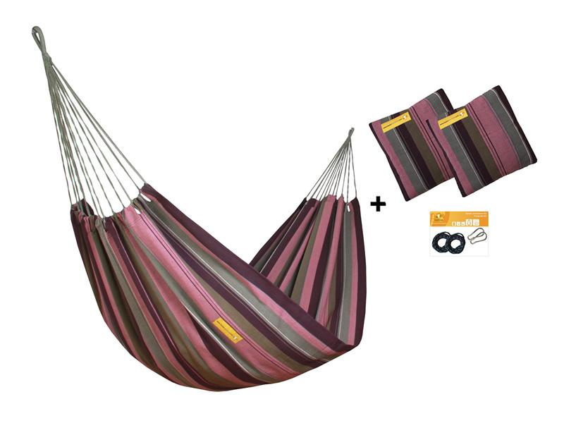 Zestaw hamakowy HW w kolorze 255 z poduszkami i zestawem montażowym, HW-PZS-255
