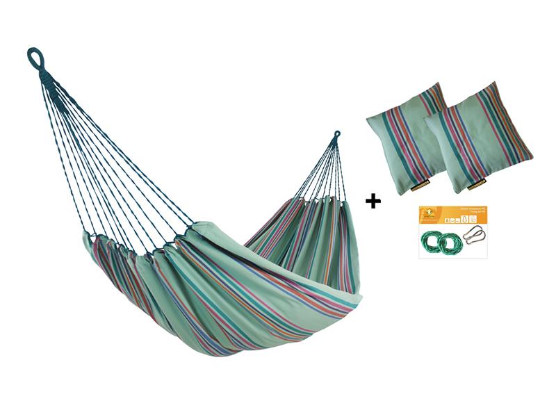 Zestaw hamakowy HW w kolorze 297 z poduszkami i zestawem montażowym