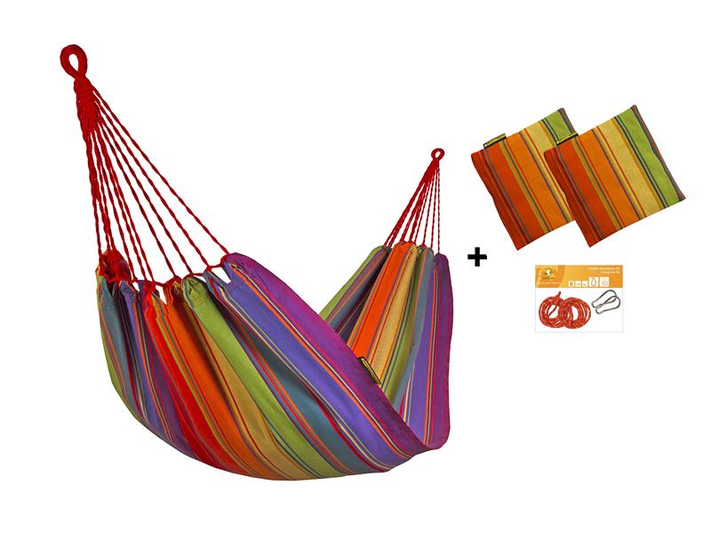 Zestaw hamakowy HW w kolorze 298 z poduszkami i zestawem montażowym