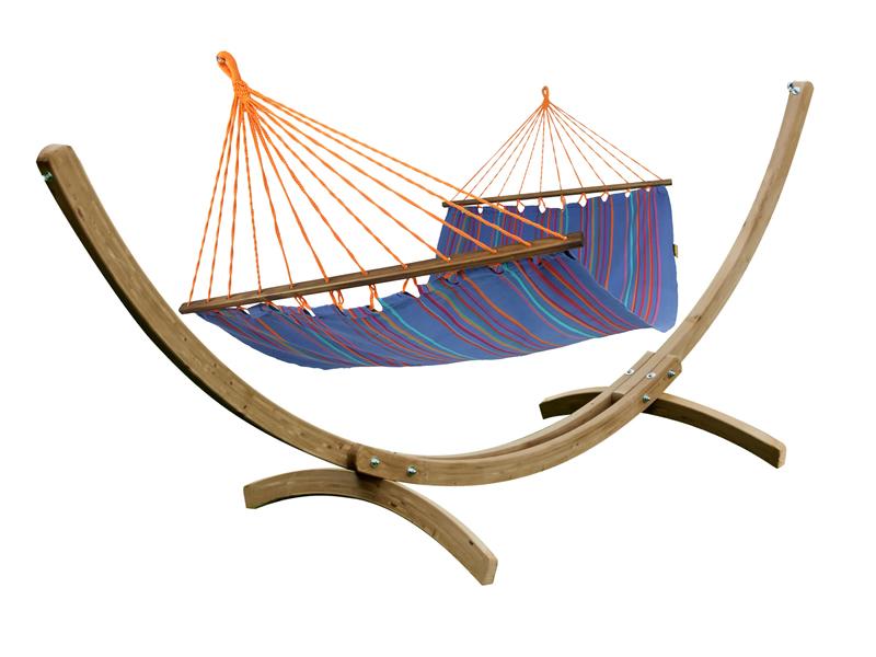 Zestaw hamakowy KOALA: hamak HSL 278 ze stojakiem JUKATAN