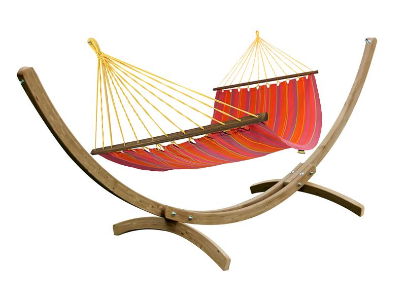 Zestaw hamakowy KOALA: hamak HSL 289 ze stojakiem JUKATAN