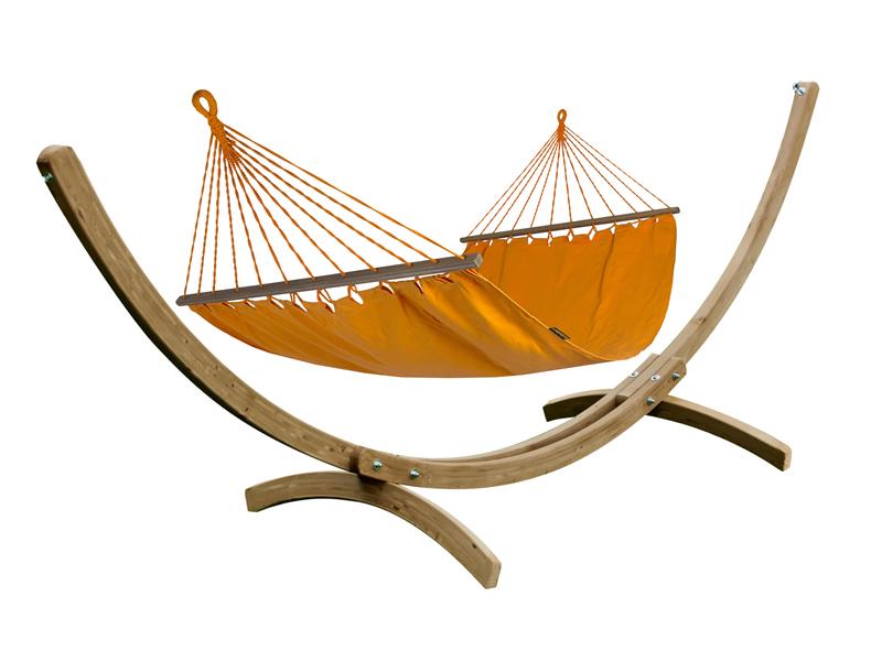 Zestaw hamakowy KOALA: hamak HSL 304 ze stojakiem JUKATAN, Bird of Paradise Orange ZHSL304-JUK