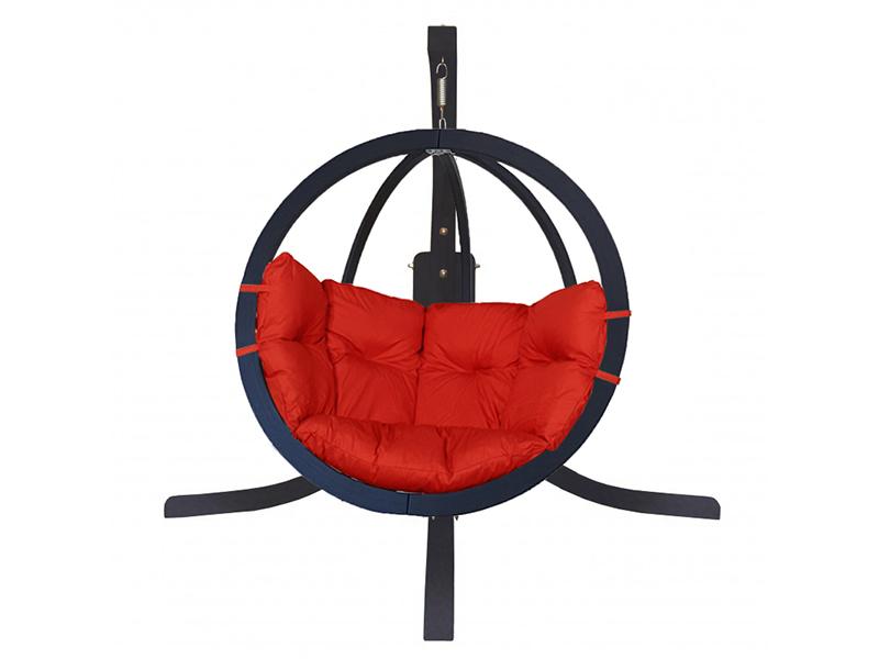Zestaw: stojak Alicante Antracyt + fotel Swing Chair Single (9), Czerwony Alicante +Swing Chair Single (9)