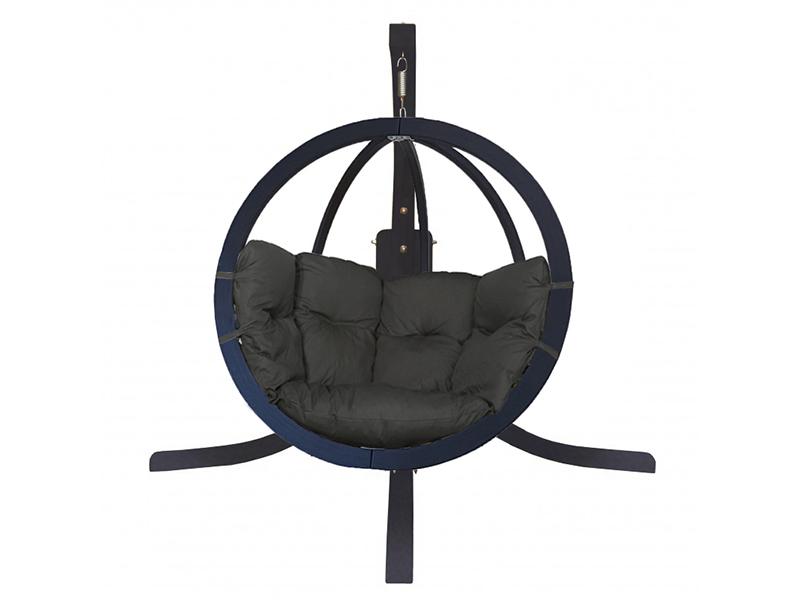 Zestaw: stojak Alicante Antracyt + fotel Swing Chair Single (9), grafitowy Alicante +Swing Chair Single (9)
