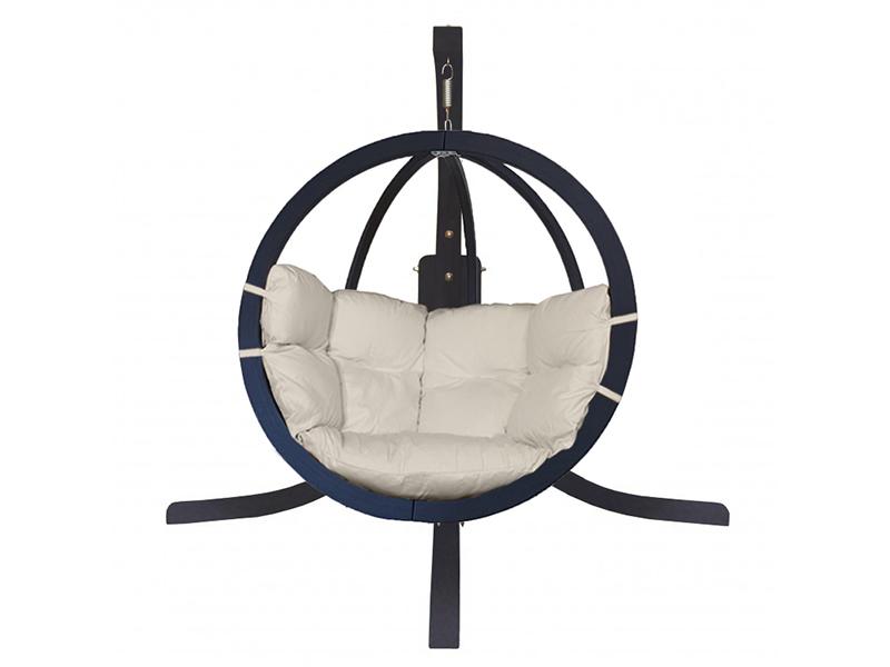 Zestaw: stojak Alicante Antracyt + fotel Swing Chair Single (9), kremowy Alicante +Swing Chair Single (9)