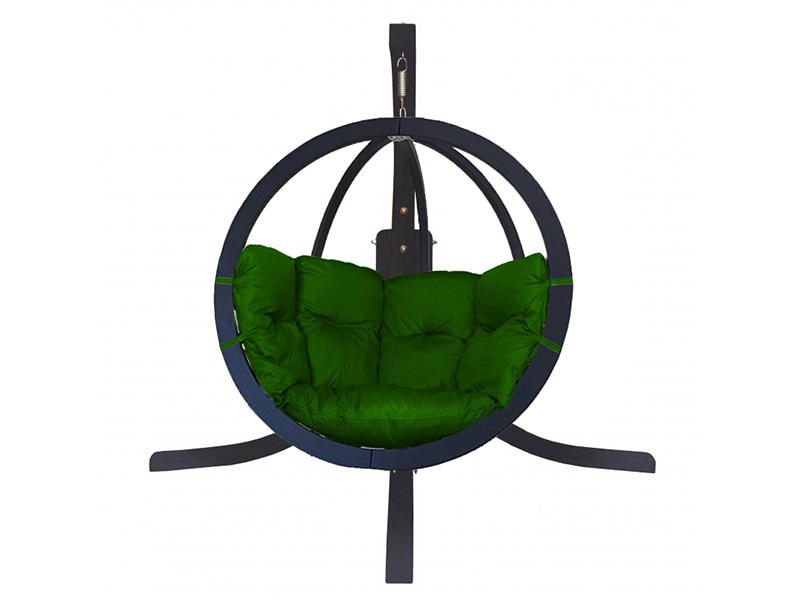 Zestaw: stojak Alicante Antracyt + fotel Swing Chair Single (9), zielony Alicante +Swing Chair Single (9)
