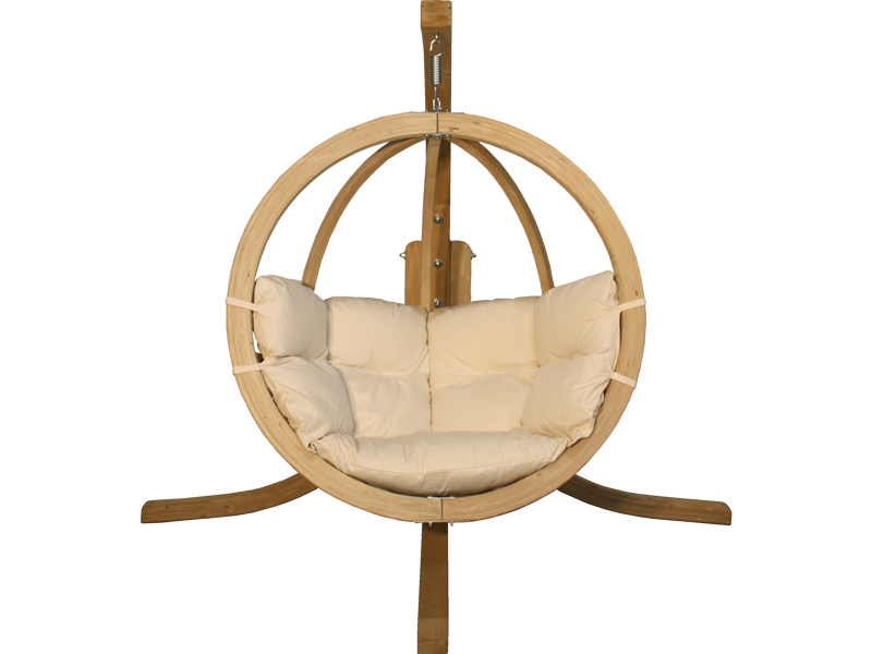 Zestaw: stojak Alicante + fotel Swing Chair Single (2), cappuccino Alicante+Swing Chair Single (2)