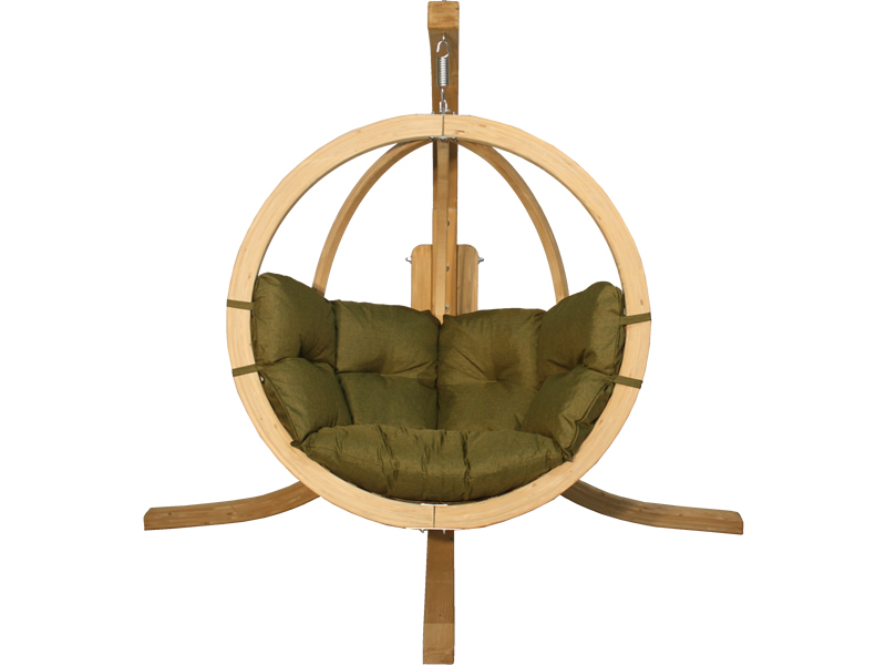 Zestaw: stojak Alicante + fotel Swing Chair Single (2), pistacjowy Alicante+Swing Chair Single (2)