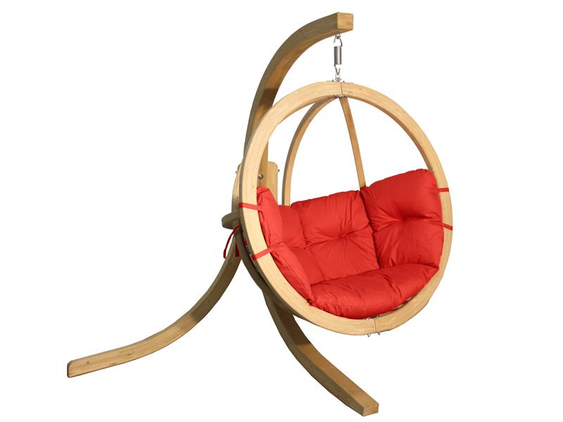 Zestaw: stojak Alicante + fotel Swing Chair Single (3), Czerwony Alicante+Swing Chair Single (3)
