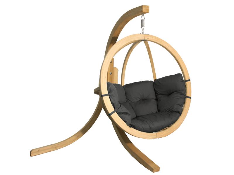 Zestaw: stojak Alicante + fotel Swing Chair Single (3), grafitowy Alicante+Swing Chair Single (3)
