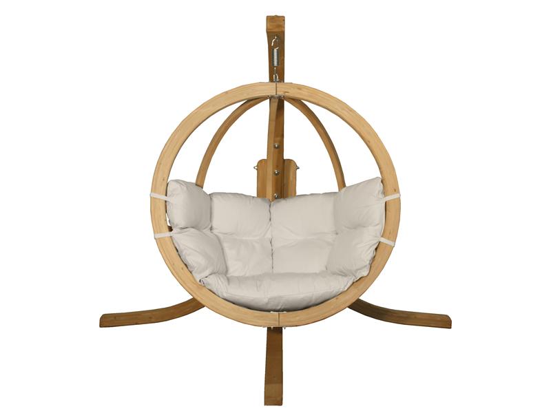 Zestaw: stojak Alicante + fotel Swing Chair Single (3), kremowy Alicante+Swing Chair Single (3)