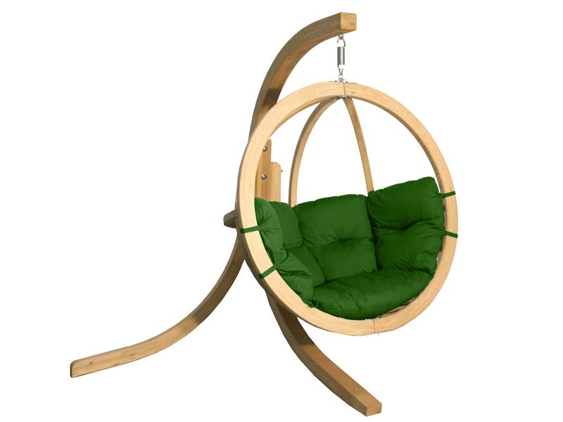 Zestaw: stojak Alicante + fotel Swing Chair Single (3), zielony Alicante+Swing Chair Single (3)
