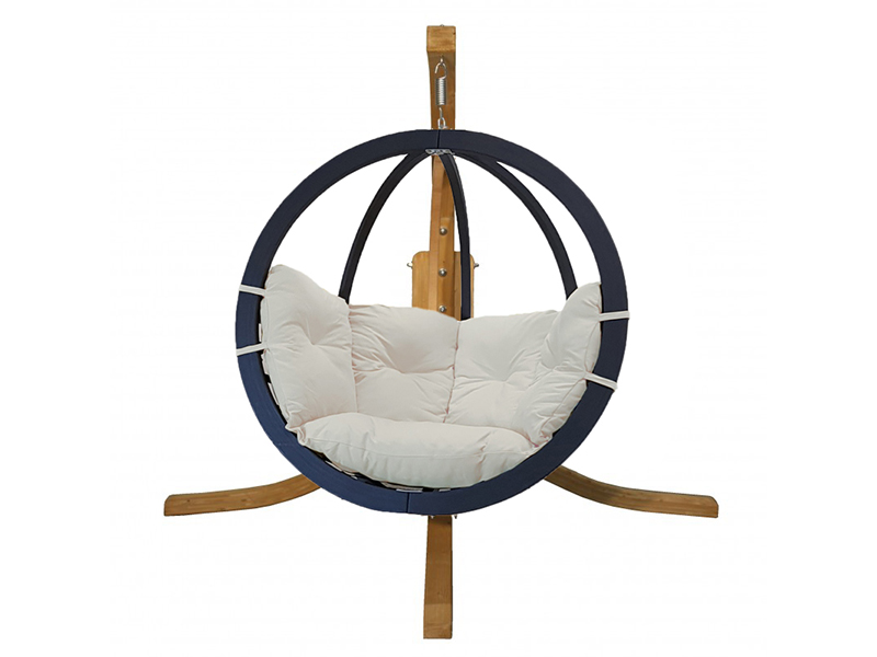Zestaw: stojak Alicante + fotel Swing Chair Single antracyt krem, Alicante+Swing Chair Single (6)