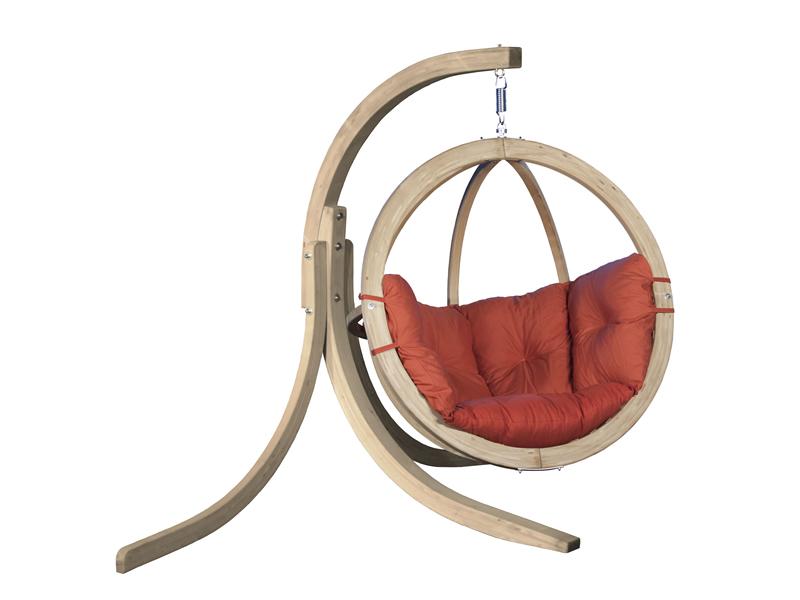 Zestaw: stojak Alicante + fotel Swing Chair Single, terakota Alicante+Swing Chair Single