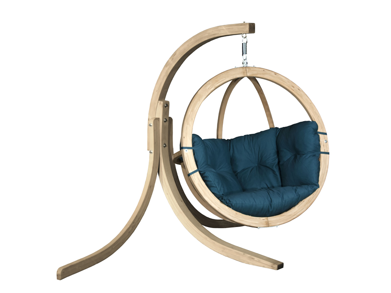 Zestaw: stojak Alicante + fotel Swing Chair Single, Zielony Alicante+Swing Chair Single