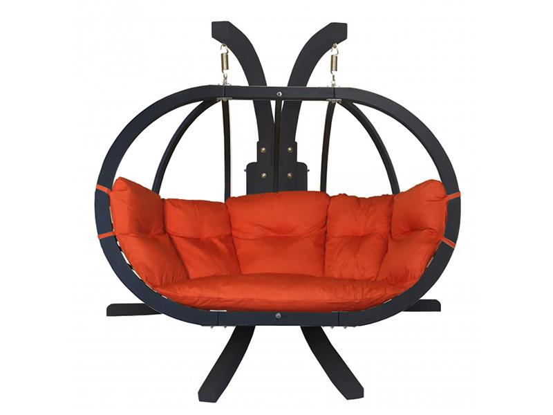 Zestaw: stojak Sintra Antracyt + fotel Swing Chair Double Antracyt (10), Czerwony Sintra + Swing Chair Double (10)