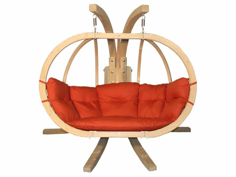 Zestaw: stojak Sintra + fotel Swing Chair Double (3), Czerwony Sintra + Swing Chair Double (3)