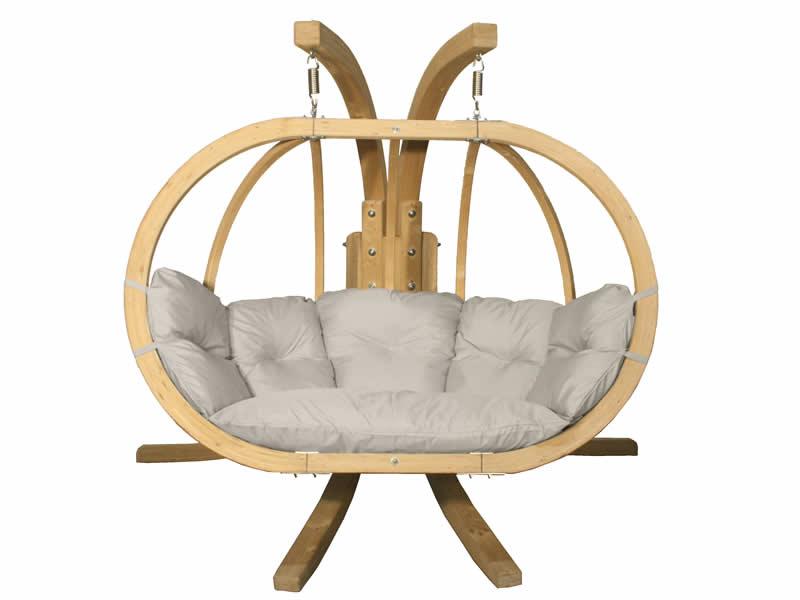 Zestaw: stojak Sintra + fotel Swing Chair Double (3), kremowy Sintra + Swing Chair Double (3)