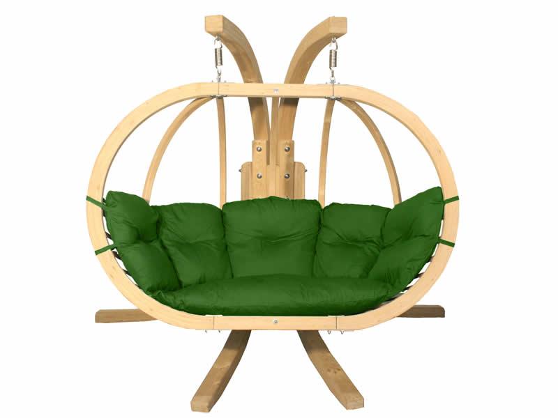 Zestaw: stojak Sintra + fotel Swing Chair Double (3), zielony Sintra + Swing Chair Double (3)