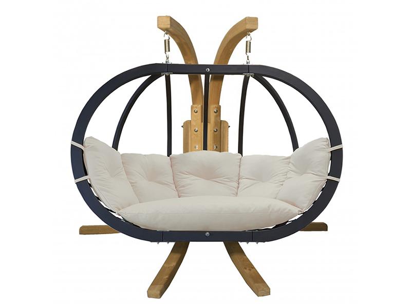 Zestaw: stojak Sintra + fotel Swing Chair Double antracyt ecru, Sintra + Swing Chair Double (5)