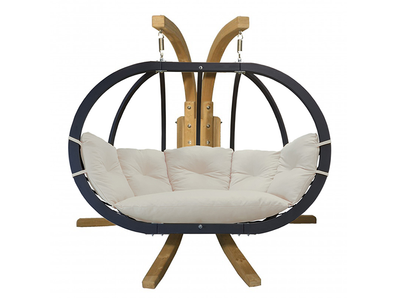 Zestaw: stojak Sintra + fotel Swing Chair Double antracyt ecru