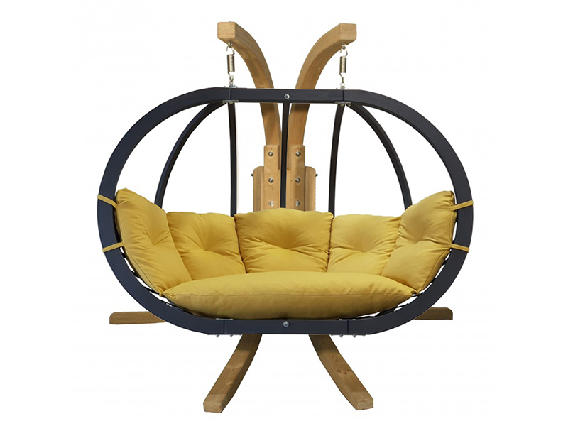 Zestaw: stojak Sintra + fotel Swing Chair Double antracyt