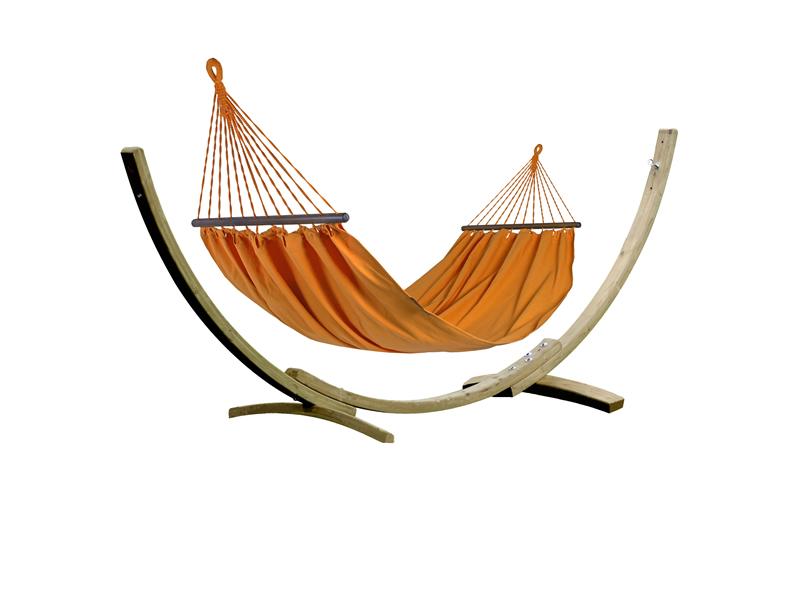 Zestaw tęczowy, Bird of Paradise Orange Hamak HS-304 + stojak Aztek