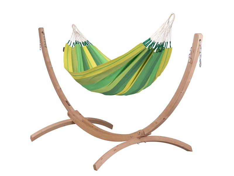 Zestaw hamakowy: hamak Orquidea ze stojakiem Canoa, Zielony ORH14CNS121