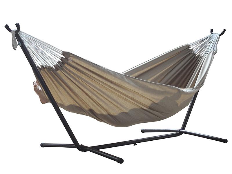 Hamak Sunbrella + stojak metalowy 9f, terakota C9SUN