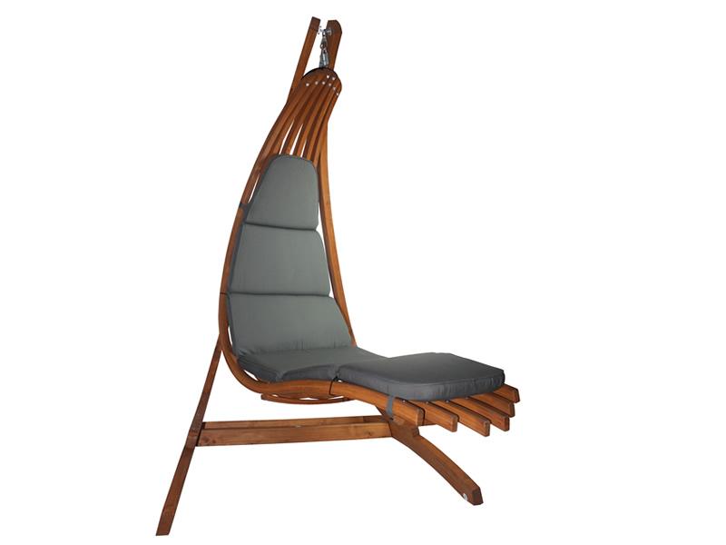 Drewniany leżak wiszący Wave-G + stojak Optimist, Zestaw: Wave-G+ Optimist