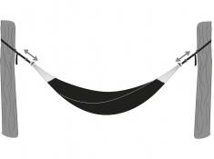 Zestaw montażowy do hamaków, T-strap - czarny(T-strap)