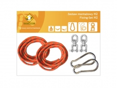Zestaw montażowy H2 do hamaków, koala/zh2 - pomarańczowy(k/zh2/pom)