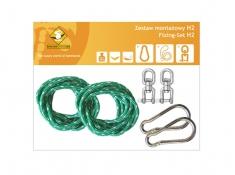 Zestaw montażowy H2 do hamaków, koala/zh2 - zielony(k/zh2/ziel)