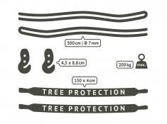 Zestaw mocujący do fotela/leżaka hamakowego TreeMount Black, TMG45