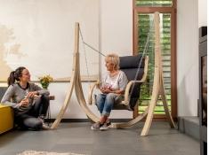 Drewniany fotel hamakowy, Fat Chair - szary(Anthracite)
