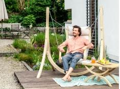 Drewniany fotel hamakowy, Fat Chair - ecru(Creme)