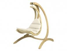 Drewniany fotel hamakowy, Swing Chair - ecru(Creme)