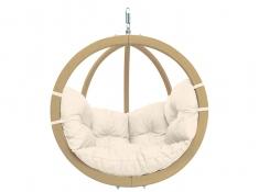 Fotel hamakowy drewniany, Globo chair natura - ecru(Natura)