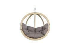 Fotel hamakowy drewniany, Globo chair weatherproof - Szary(Taupe)