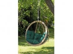 Fotel hamakowy drewniany, Globo chair weatherproof - Zielony(Verde)