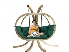 Fotel hamakowy dwuosobowy drewniany, Globo Royal chair weatherproof - Zielony(Verde)