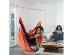 Fotel hamakowy, Brasil - żólto-czerwony(Acerola)