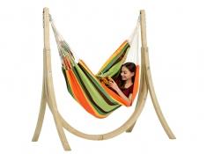 Fotel hamakowy, Brasil Gigante - pomarańczowo-zielony(Esmeralda)